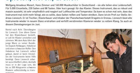 Zeitungsartikel WN Piano Dragstra